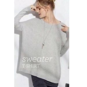 Cabi Grey Oversized Sweater Tee #3305 Size Medium
